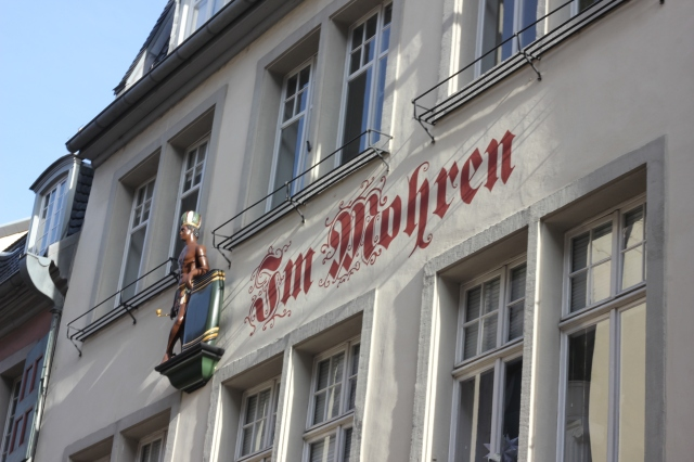 "This blatantly racist sign and sculpture were right above Beethoven´s house. ""Mohren"" is an old-fashioned, no longer politically correct word for black people. Amazing how stuff like this exists in Germany today and nobody thinks twice. There´s also a street in Berlin called ""Mohrenstraße"" because 100 years ago a group of black jazz musicians lived there."