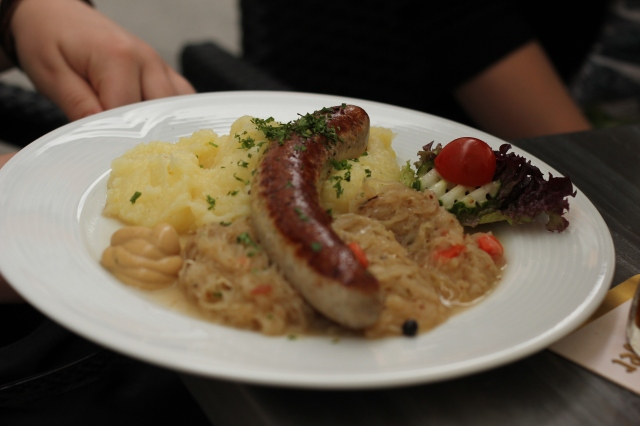 Original Thuringian bratwurst. Because we're tourists and take pictures of our food.