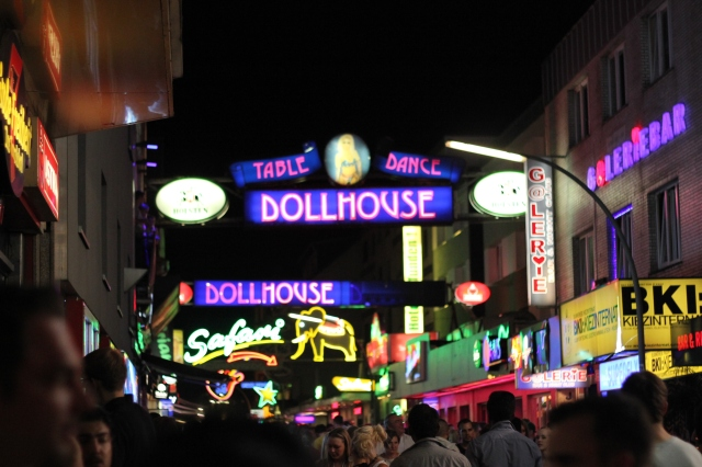 The Reeperbahn, a.k.a. Las Vegas compressed into a 300-meter strip.