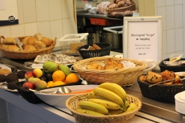 Snacks at the canteen - they always have fresh fruit and delicious pastries for us to eat!