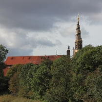 The church steeple, as seen from Christiania.