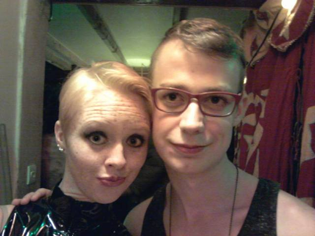 Me and Edwin, before the party. Ugggh what geeks!