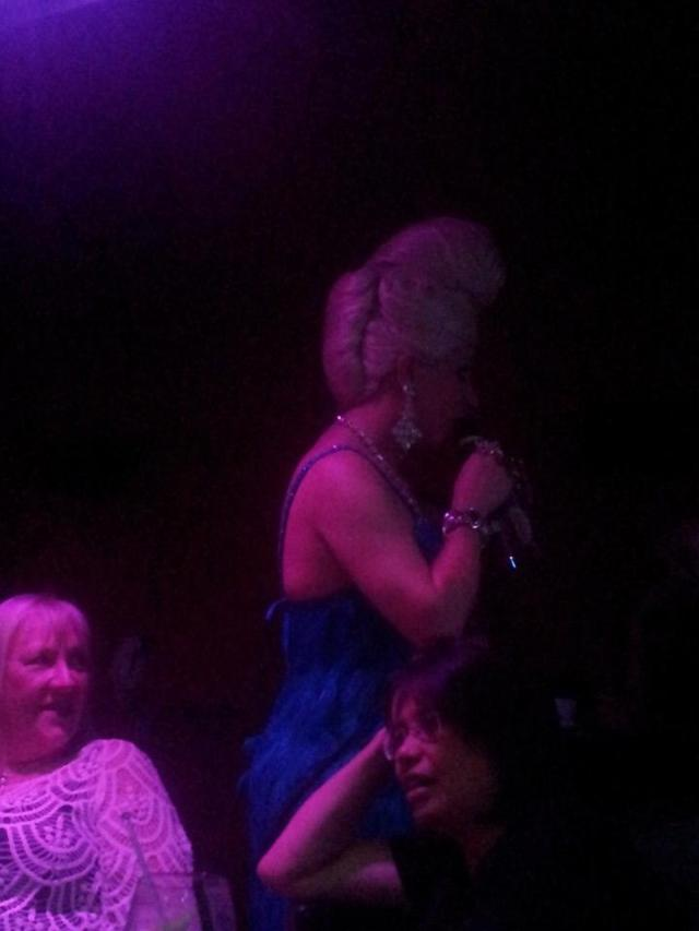 Drag queen at Cellar Door. Sorry for the crap quality - I didn't have my nice camera with me.