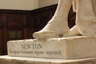 Statue of Sir Isaac Newton in Cambridge