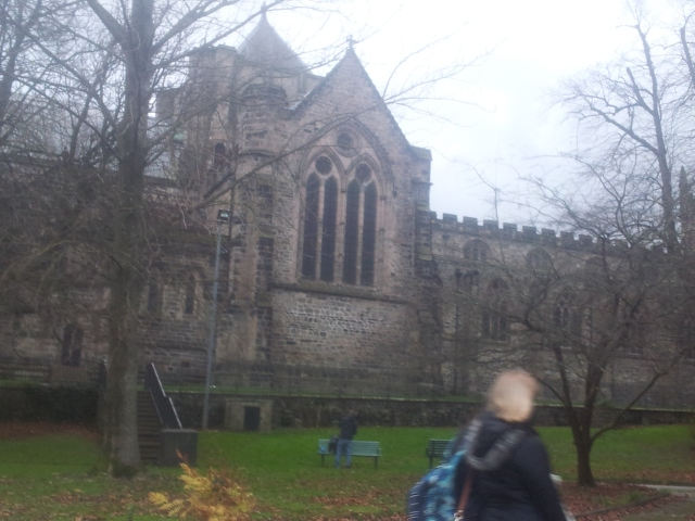 Beautiful old uni building in Bangor.
