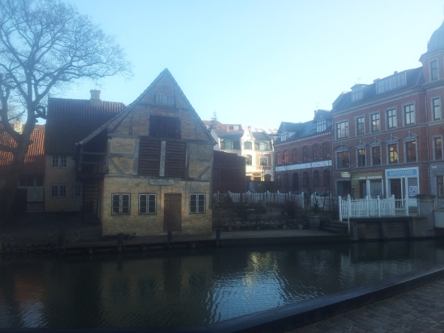 A part of the canal runs through Den Gamle By. Sometimes there are geese.