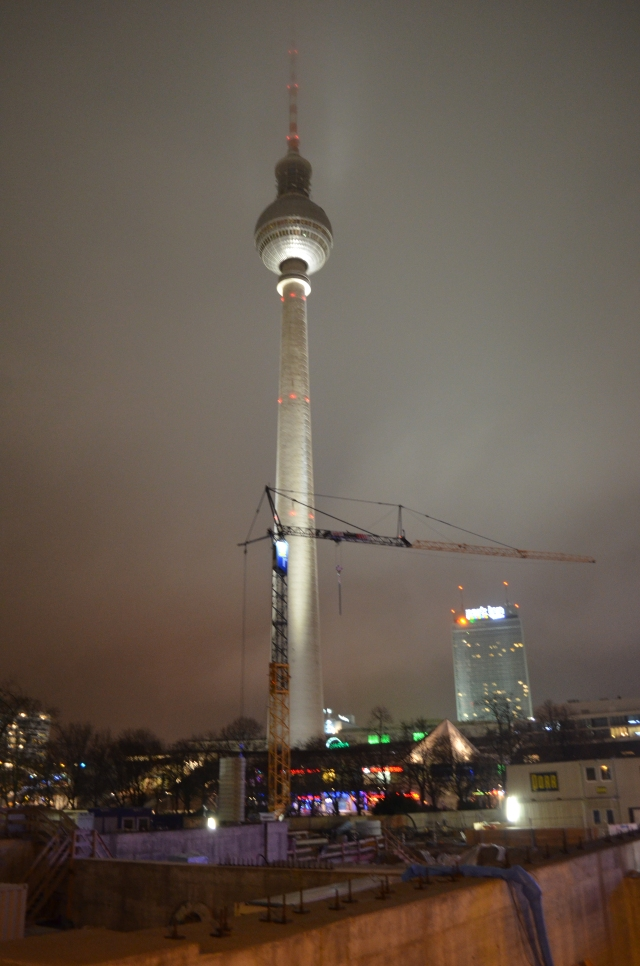 The famous Fersehturm (TV tower), visible from nearly everywhere in the center of the city.