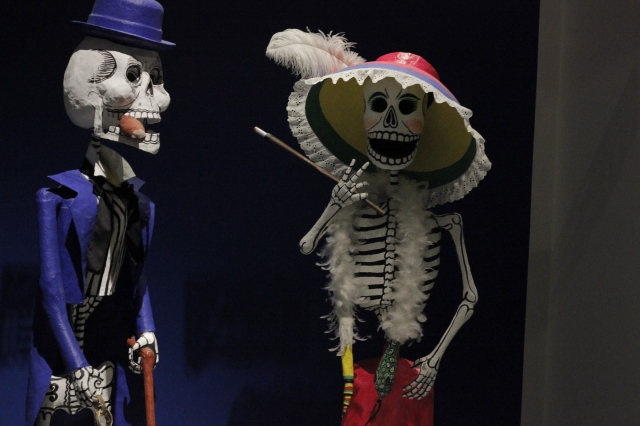 Colorful Day of the Dead skeletons