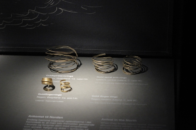 Arm bands and finger rings found in the bogs of central Jutland, presumably dumped there as some sort of offering or ritual