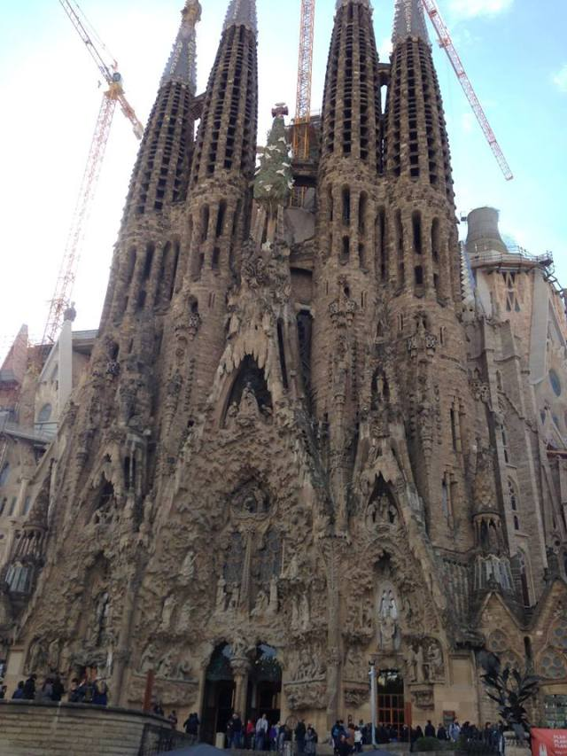 La Sagrada Familia, a huge cathedral that's been under construction for over 100 years. Photo: Dan Fournier