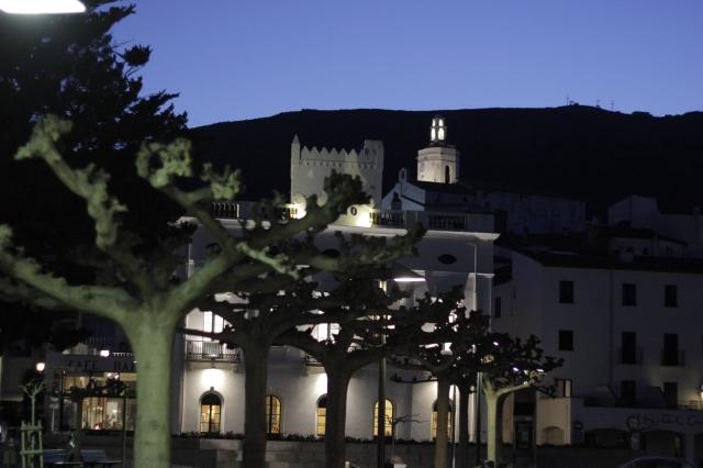 Downtown Cadaqués at night