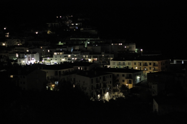 The view from Lahra and Peter's place, overlooking the city at night