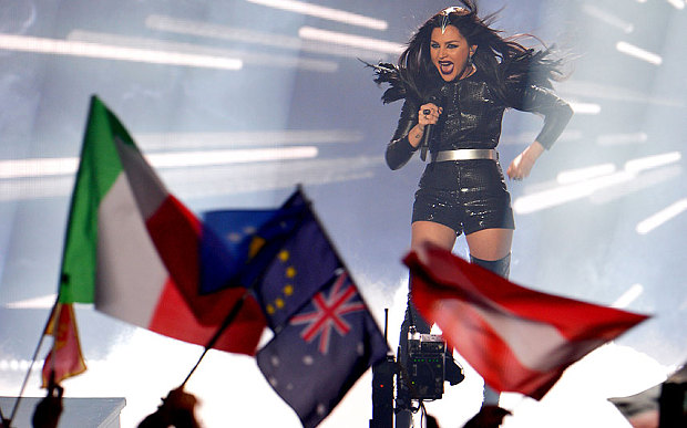 Georgia's star Nina Sublatti performing in Eurovision 2015. Photo: Telegraph