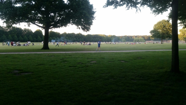 Stadtpark, the largest park in Hamburg - a popular spot for grilling, playing football, and hanging out in the sun.