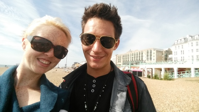 Me and Dan at the Brighton seaside.
