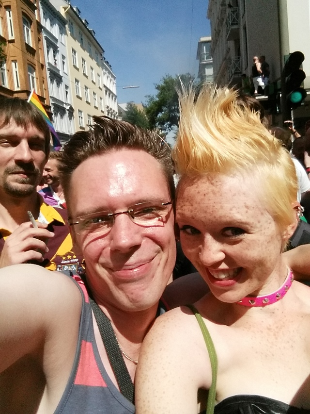 Alex and me marching in the Christopher Street Day parade