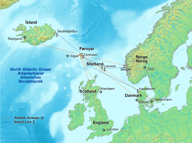 Map_of_faroe_islands_in_europe,_flights_and_ferries