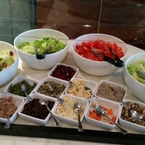 During lunch, we also had access to the salad bar, which consisted of iceberg lettuce and a variety of toppings.