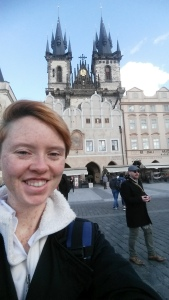 Selfie in front of Prague Old Town
