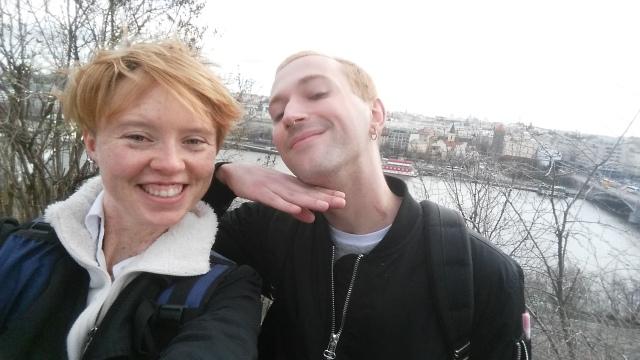 Selfie from Letna Park overlooking Prague