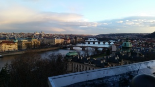 The view of Prague from Park Letna