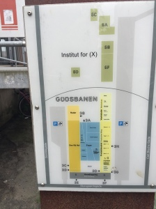 Map of the former Institute for X at Godsbanen in Aarhus, Denmark